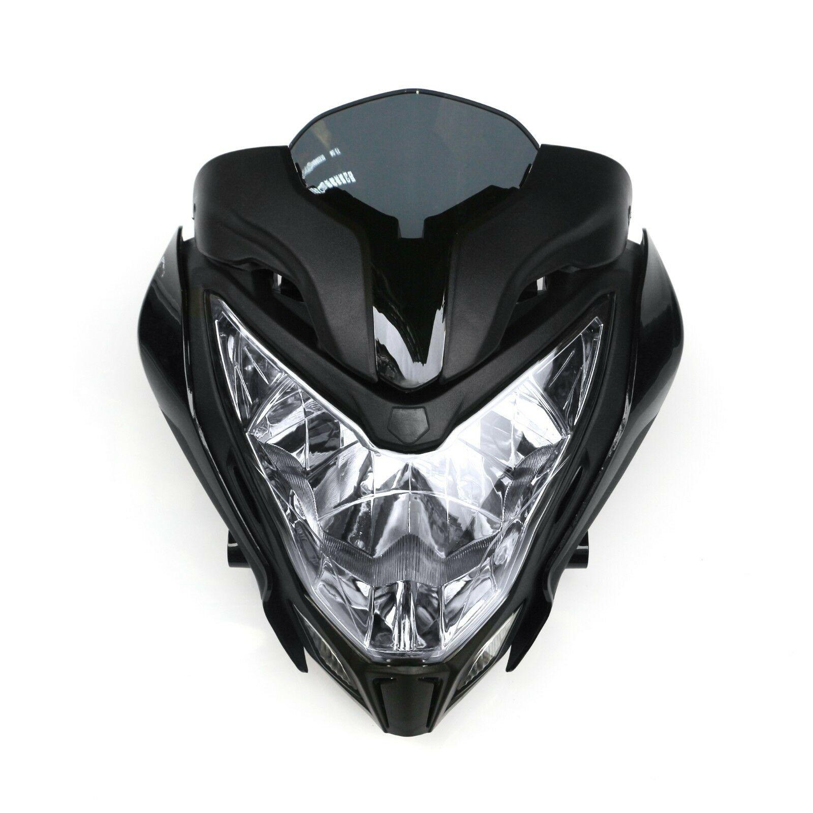 Ensamblaje de faro para motocicleta faro + carenado negro apto para BAJAJ PULSAR150 200