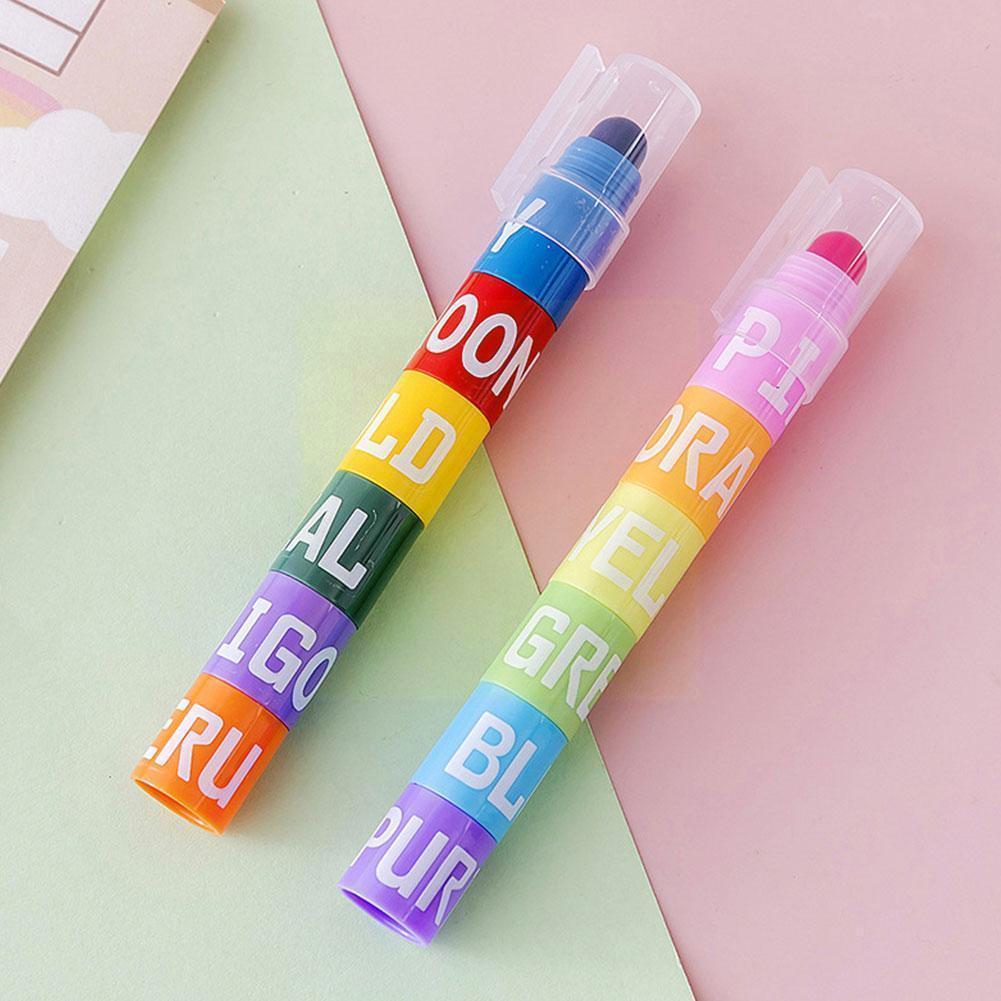 6 в одном портативная цветная маркировочная творческая сшивка мягкая маркировка цветная маркировка ручка для рисования художественная цве...