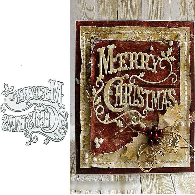 Feliz natal holly folhas morre de corte de metal dados estêncil para diy scrapbooking álbum gravando artesanato dados corte ferramenta de cartão de papel
