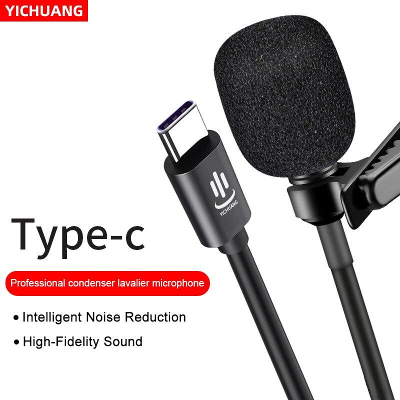 YC-LM10 Type-C Microfoon Lavalier Microfono Micr Audio Video Opname Condensator Voor Android & Windows Smartphones,Interview
