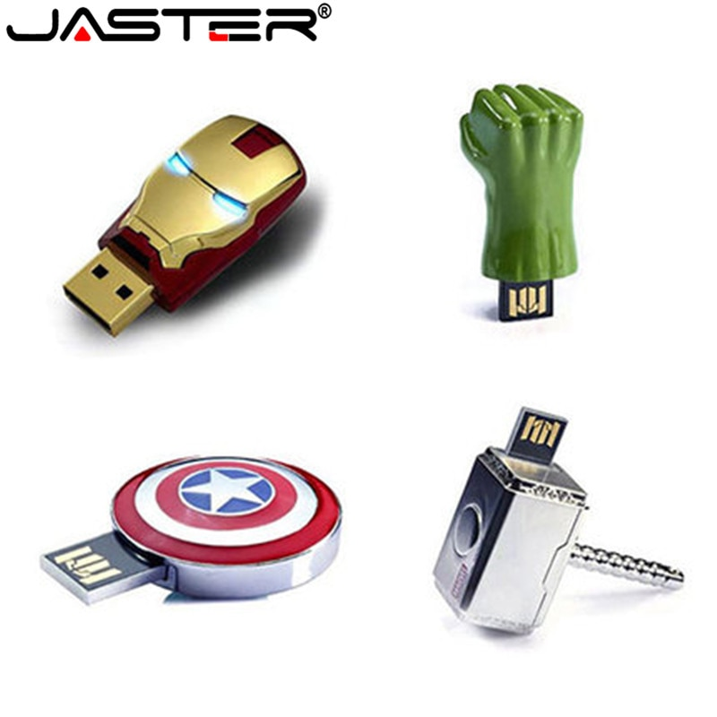 Super Escudo del Capitán América memoria flash usb unidades 64GB 32GB 8GB 2,0 pendrive impermeable plata u disco memoria cel usb regalo