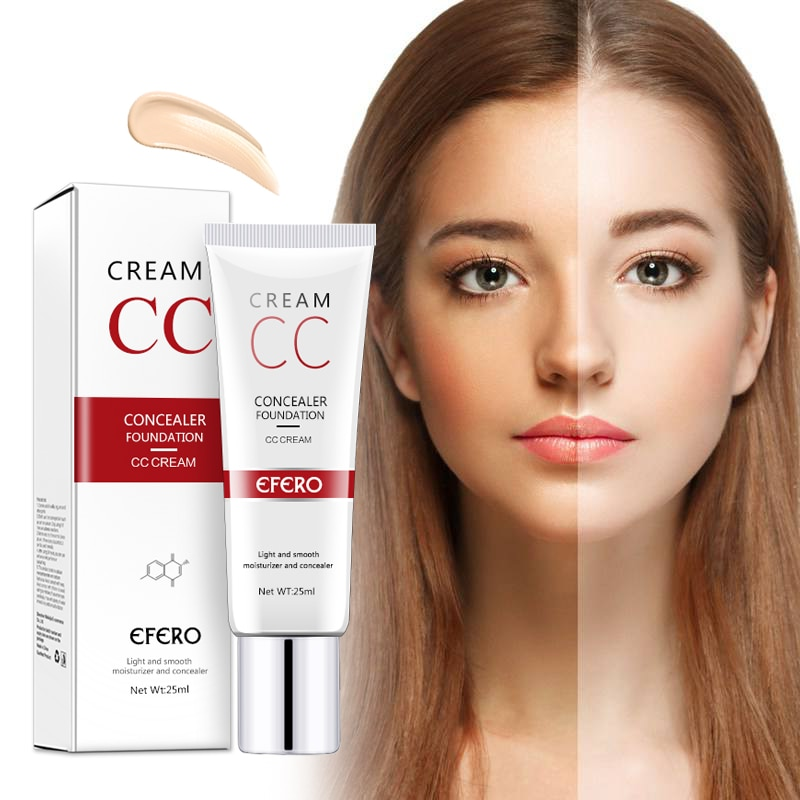 EFERO BB Concealer CC Cream cosmetics Makeup Cover Base Primer Face Contouring Foundation Cream Makeup Base Korean Cosmetics недорого