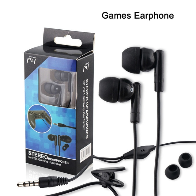 Game Headset Wire Line Earphone Double Bass 3.5MM For PS4 Support