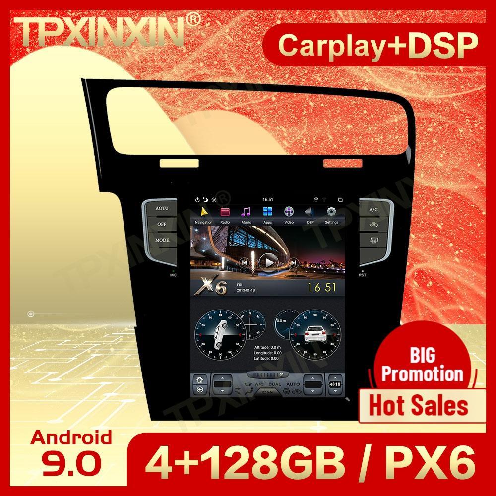 128G Carplay 2 الدين الروبوت 9 تسلا الوسائط المتعددة ستيريو ل VW Golf 7 2013 2014 2015 2016 GPS فيديو راديو استقبال لاعب رئيس وحدة