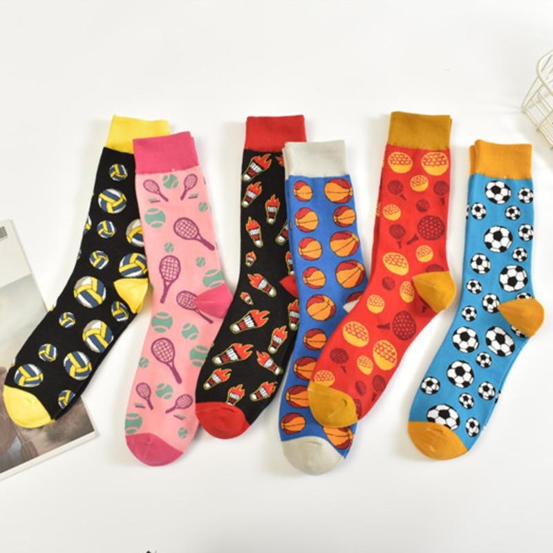 New Football Volleyball Badminton Tennis Basketball Happy Funny Socks In The Fashion Socks For Men And Women Harajuku