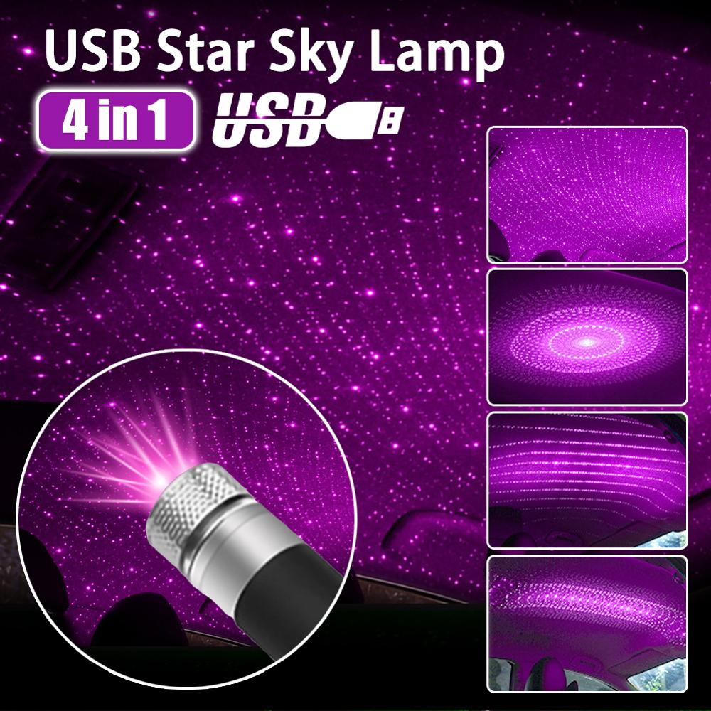 USB Mini LED Car Roof Lights Projector Wonderful For Home Car Starry Sky Meteor USB Light PC Computer Universal Водонепроницаемый Light