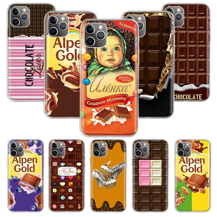 Alenka bar chocolate wonka funda para Apple iphone 11 Pro XS Max XR X 7 8 6 6S Plus 5 5S SE 10 diez regalo funda de silicona para teléfono