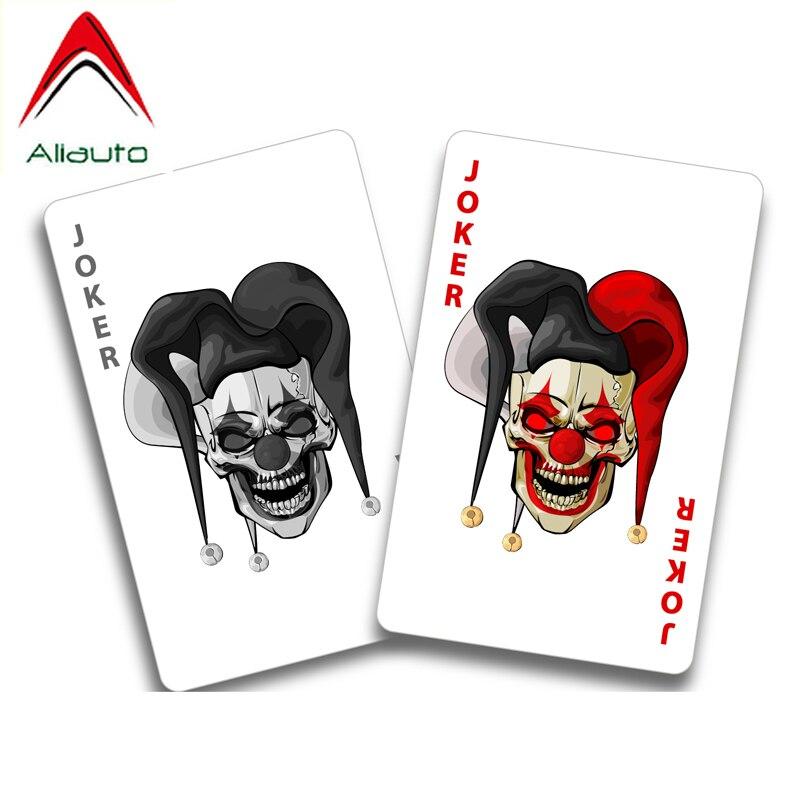 Aliauto personalidade adesivo de carro assustador palhaço circo cartões pvc decalque capa arranhões para ford focus 2 mondeo mk4, 16cm * 12cm