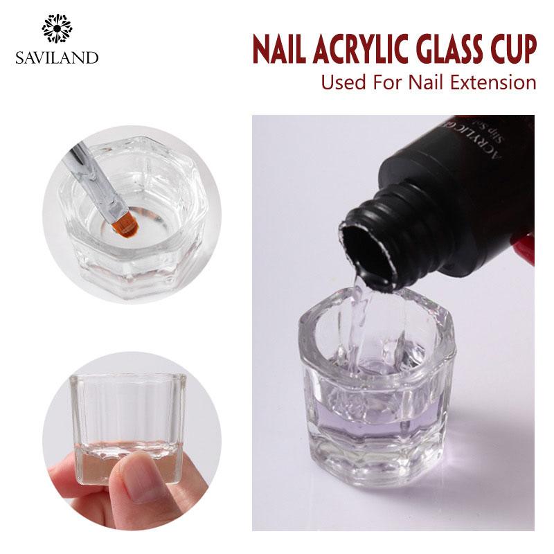 Стеклянная чашка Saviland для полигеля, Быстросохнущий УФ-гель для наращивания ногтей, инструменты для полигеля, дизайн ногтей