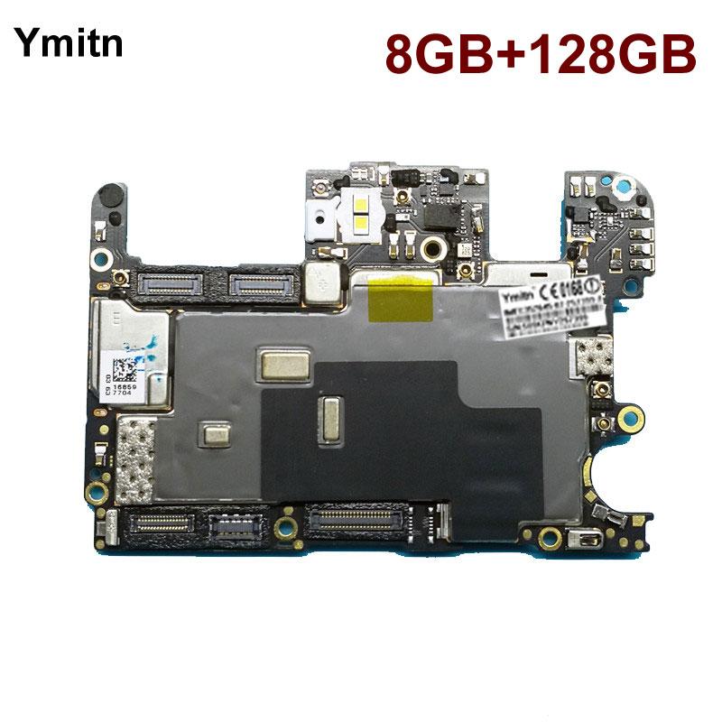 Ymitn Desbloqueado Placa Principal Placa Lógica Motherboard Com Chips de Circuitos Flex Cable Para OnePlus 5 OnePlus5 A5000 128GB