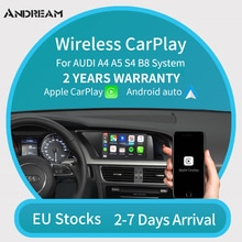 Andream para Audi módulo Carplay inalámbrico para AUDI Q5/Q7/Q3 A3 A4 A5 A6 A7 MMI sistema compatible con Android Auto mirror-link