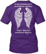 Men t shirt Son and Grandson Guardian Angels tshirts Women t-shirt