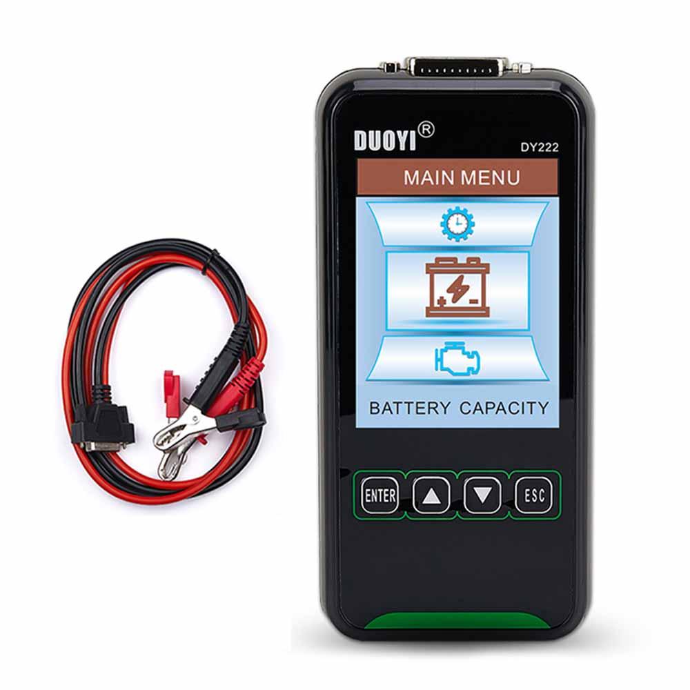 DUOYI DY222 12V/24V автомобиль Батарея Тестер нагрузки Многофункциональный Батарея медицинский Контролер автомобильной Батарея Системы тестер