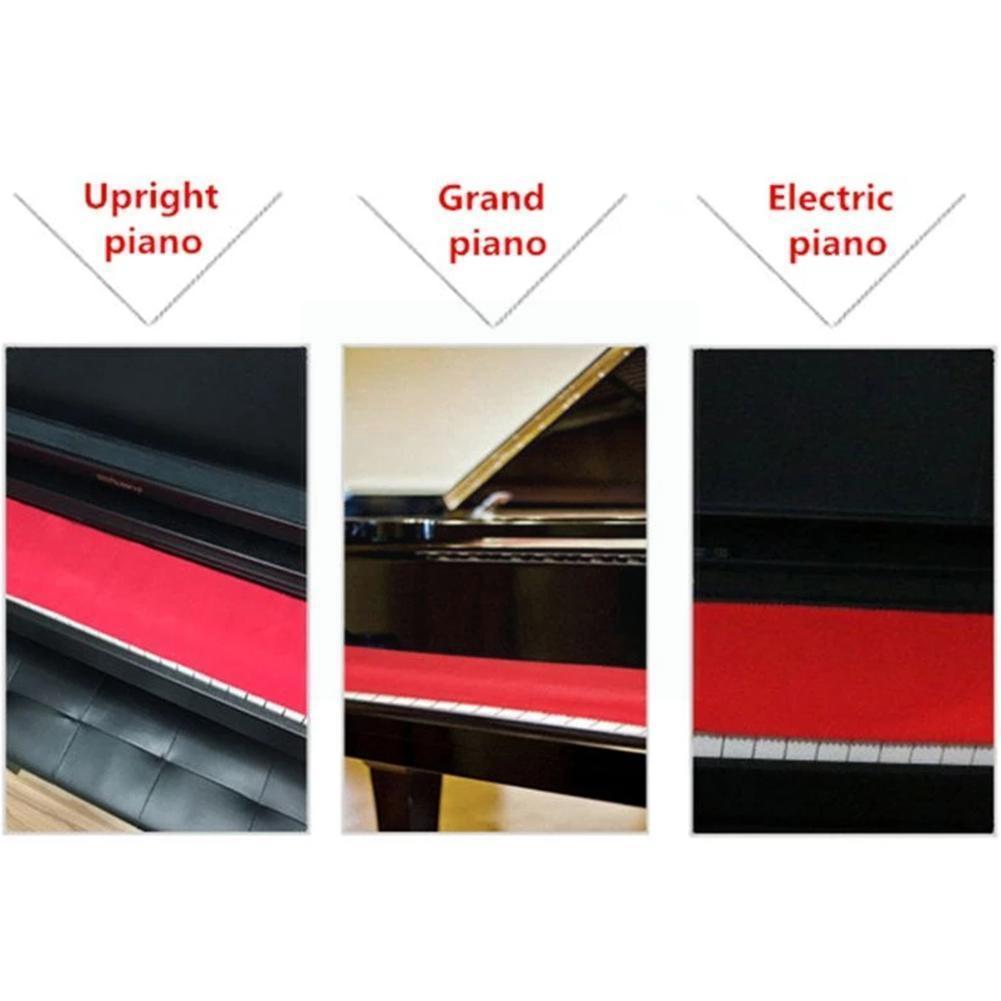 Фланелевый Мягкий тканевый чехол для пианино, 1 шт., тканевый чехол для пианино, тканевый чехол для пианино, Пыленепроницаемый Чехол для пиан... чехол