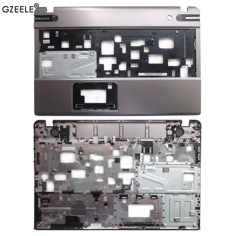 Accessoires dordinateur portable nouveau Palmrest couverture C coque étui pour TOSHIBA P850 P855 argent ordinateur portable Base supérieure étui clavier lunette coque
