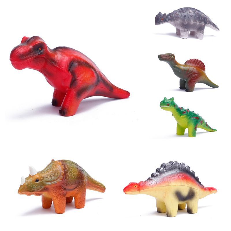 6 Pieces Dinosaur Squishy Toys Set for Slow Rising Stress Relief Super Soft Squeeze Dinosaur Toys L4MC enlarge