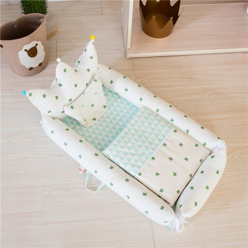 Crown Folding Portable Crib Bionic Removable and Washable Crib Travel Baby Nest Pure Cotton Newborn Crib Baby Bedding Nest Baby enlarge