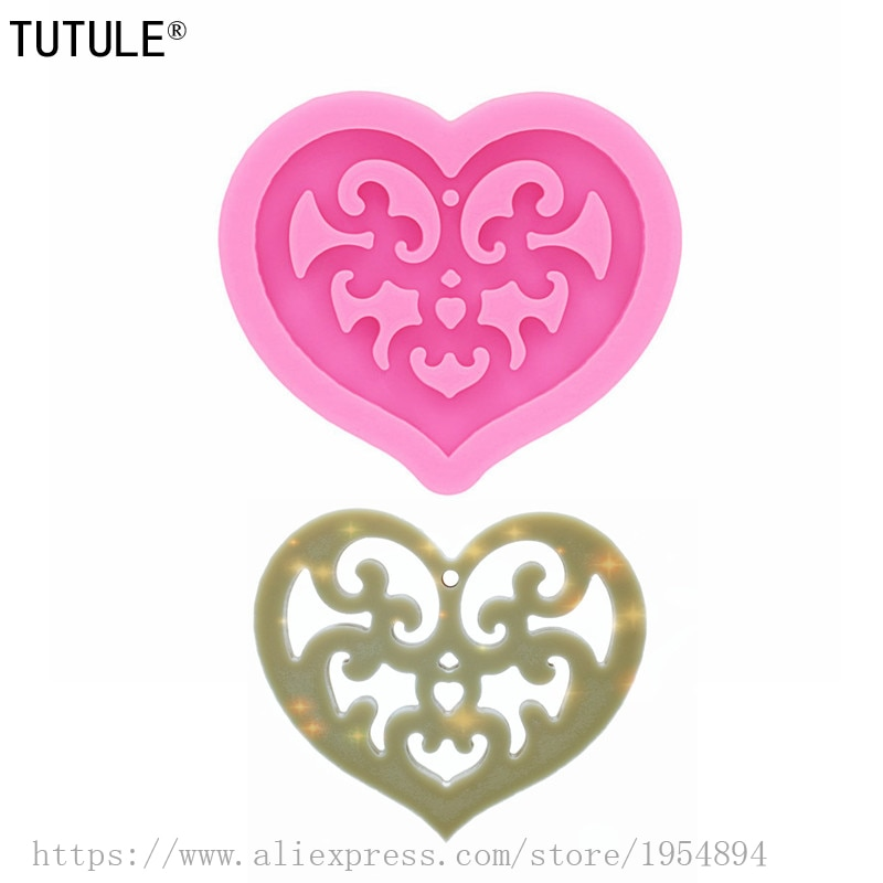 Gadgets,Shiny Glossy Paisley Heart necklace Jewelry Epoxy Mould Keychain,Epoxy Resin Charms Jewelry earring,Polymer Clay Mold