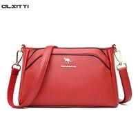 designer luxury handbags 2021 new vintage pu leather tote bags for women multi pocket shoulder messenger bags high quality sac