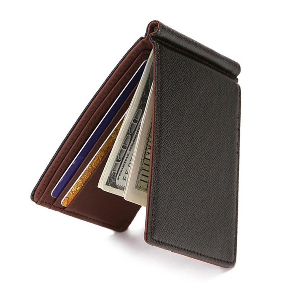 Новинка 2021, мужской кошелек, короткие кожаные кошельки, бумажники, тонкий мужской кошелек с зажимом для денег, женская сумка