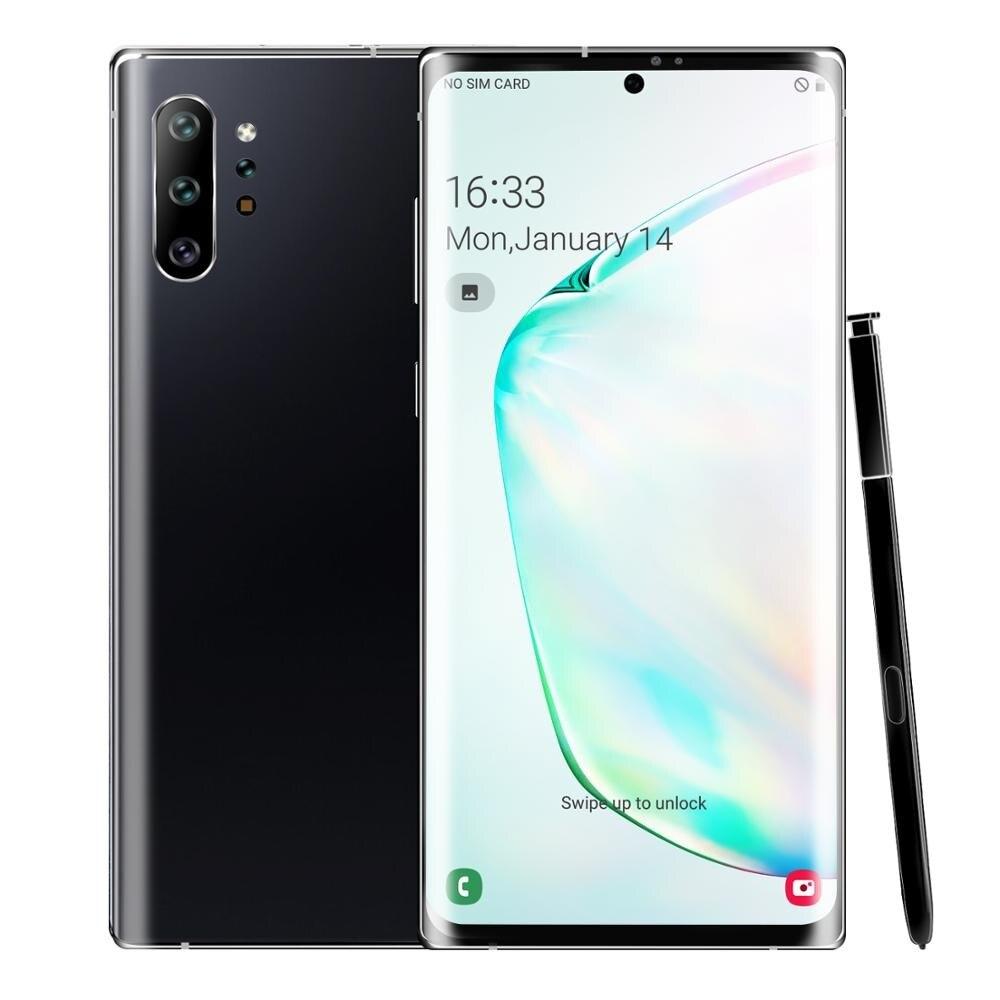 Rugoma-smartphone note 10 +, android 9.0, 4800mah, 3gb ram, 32gb rom, 6.8 polegadas, tela cheia, câmera dupla, celular enlarge