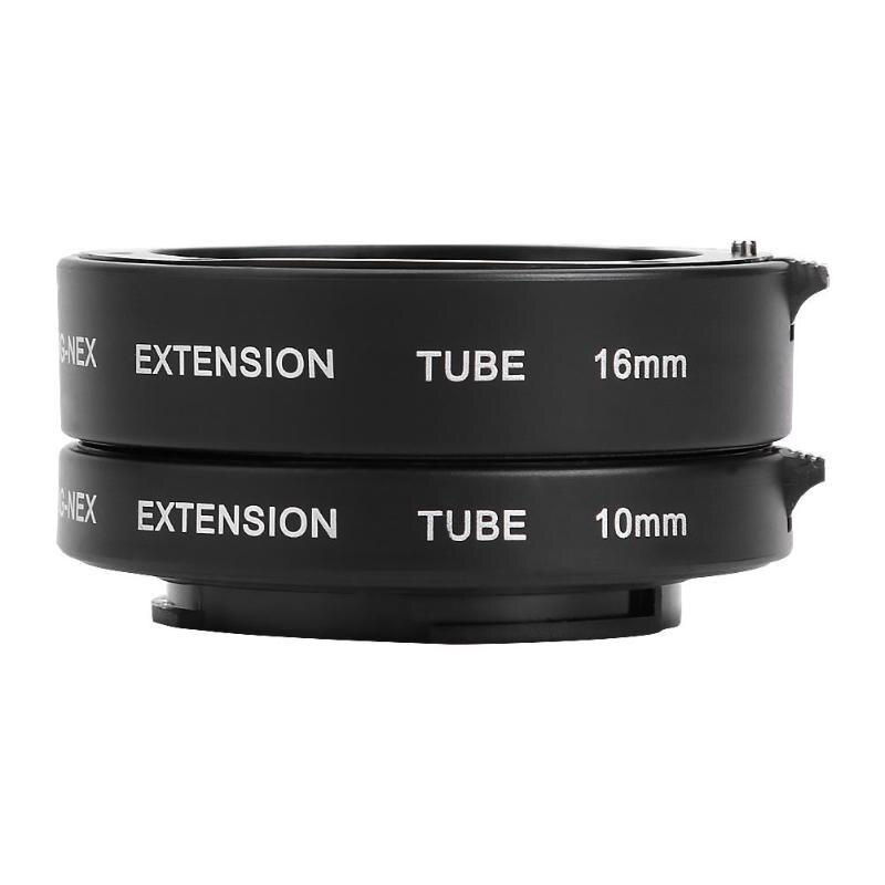 Kit profesional de tubo de extensión Macro Metal Auto Focus Set 10mm 16mm lentes accesorios para Sony NEX E montaje Cámara