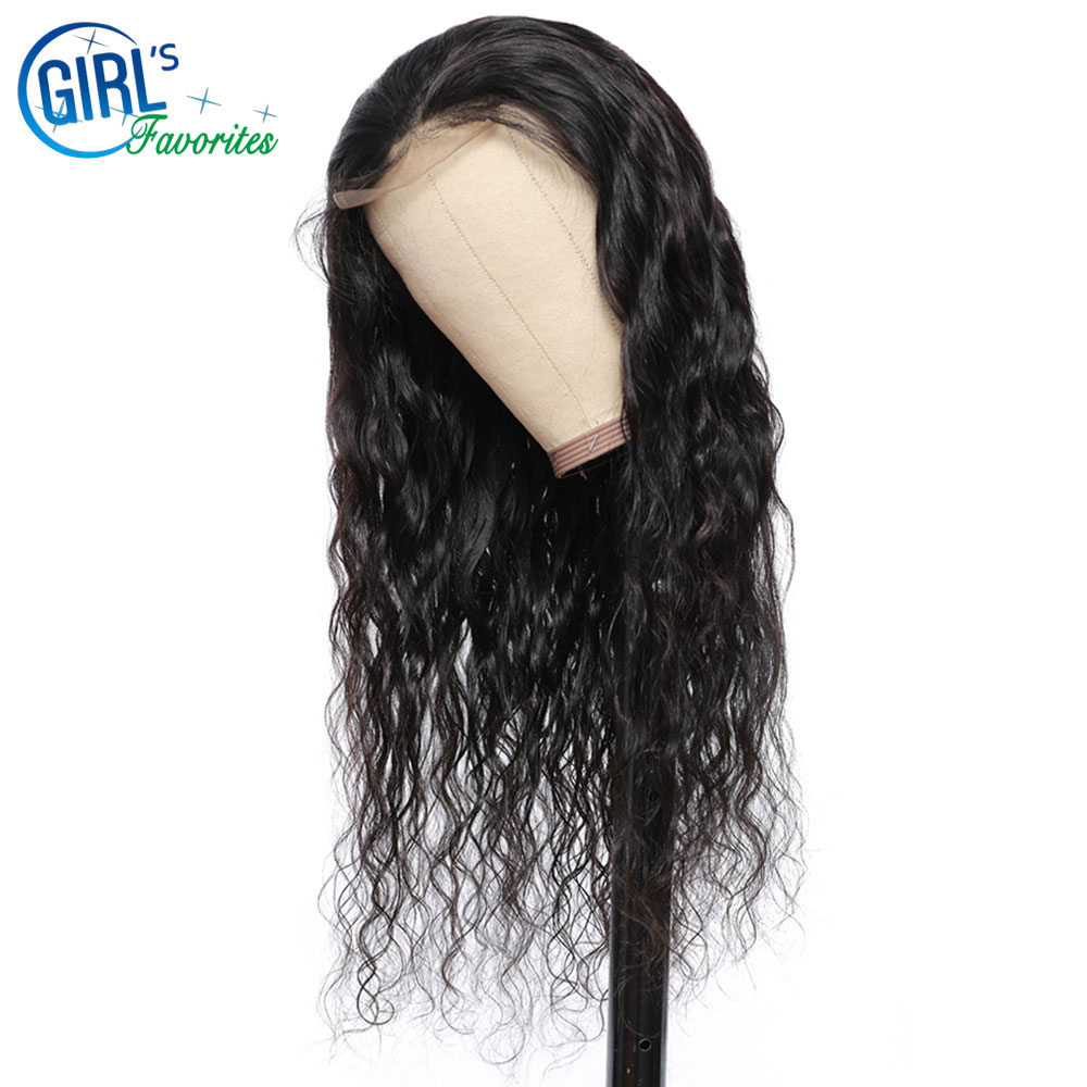 Novo sentimento natural ondulado peruca de cabelo humano 4x4 hd fechamento do laço peruca pré arrancado perucas de renda personalizadas 100% cabelo humano para preto