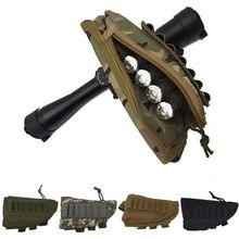Tragbare Einstellbare Tactical Butt Lager Gewehr Wange Rest Beutel Kugel Halter Tasche Ammo Box Patrone Mag Magazin Hohe Qualität