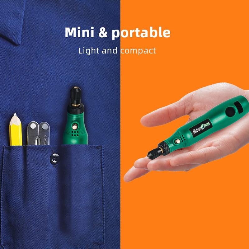 Mini trapano wireless penna per intaglio elettrico kit di utensili - Utensili elettrici - Fotografia 5