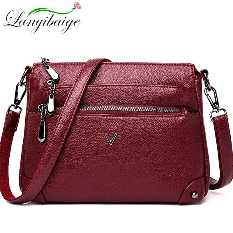 New Woman Crossbody Bags High Quality Leather Handbags Luxury Bag Designer Famous Brand Shoulder Messenger Bags For Women 2020