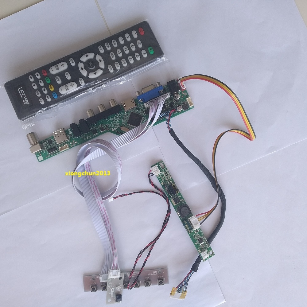 LED AV USB بطاقة VGA تلفاز LCD HDMI متوافق تحكم لوحة للقيادة عرض عدة ل 23.8