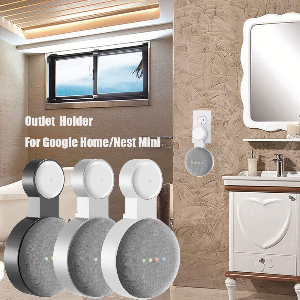 Outlet Wall Mount Holder for Google Home Mini (1st Gen) Google Nest Mini (2st Gen) Cord Management f