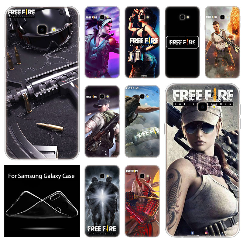 Soft Silicone Case Free Fire Game For Samsung Galaxy J8 J6 J4 J2 Pro 2018 Core J6 J7 Prime J3 2016 J5 2017 EU J4 Plus Cover