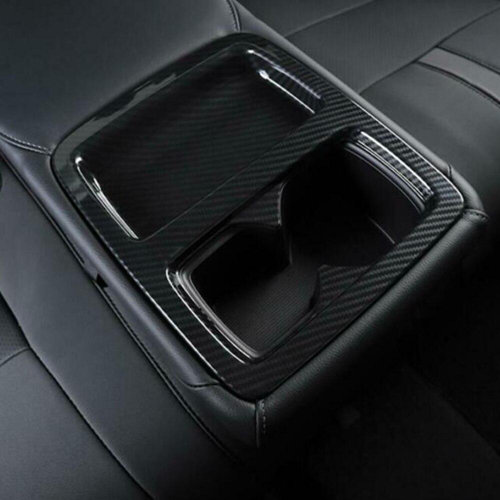 Tapa para posavasos ABS para Honda Accord 2018-2019 piezas de asiento trasero embellecedor negro