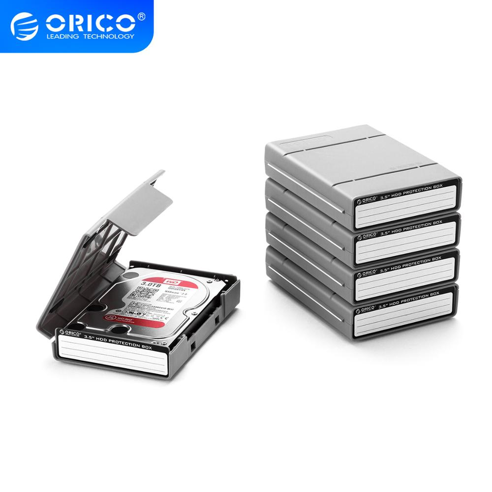 ORICO 5 Bay 3.5 inch Protective Box / Storage Case for Hard Drive(HDD) or SDD with Waterproof Function- 5PCS/LOT