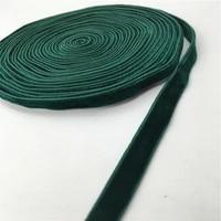 6mm double face nylon green velvet ribbon wedding party decoration handmade gift wrapping hair bowknot diy christmas 135yard