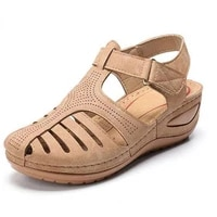 women 2020 summer leather vintage sandals casual sewing women vintage sandals women platform shoes plus size