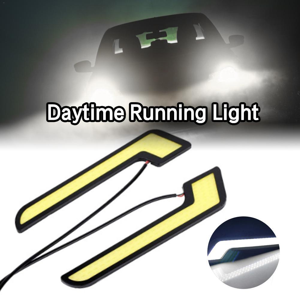 Durable DC12V 7-Tipo de alto brillo LED COB Luz de funcionamiento conducción diurna L-shanped coche luces LED 6.30x1.38x0.79in