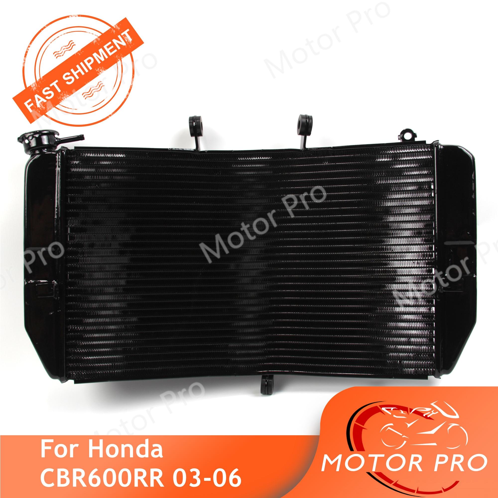 Moto radiador de alumínio para honda cbr600rr 2003 2004 2005 2006 cooler acessórios cbr 600 rr cbr600 600rr 600cc