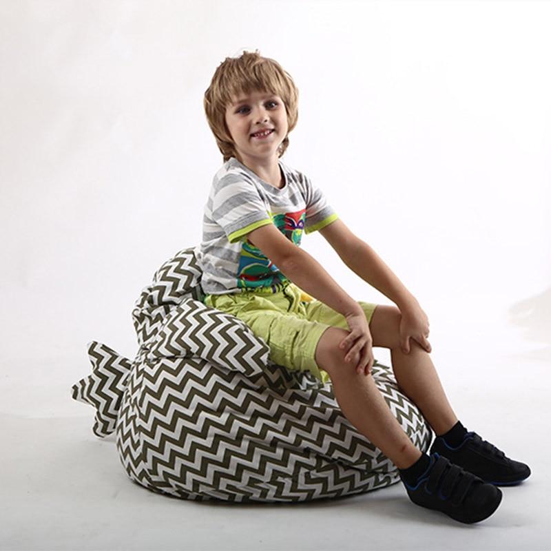 De almacenamiento de bolsa de frijol chica forma Animal relleno juguete suave bolsa de silla