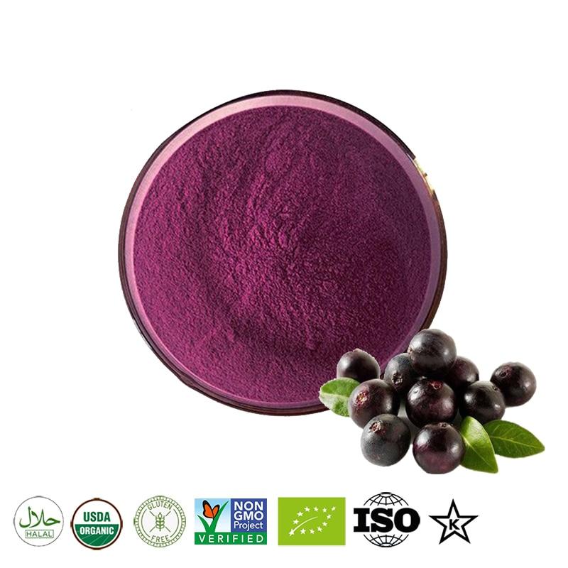 Polvo de jugo de baya de Acai orgánico puro, salud cardiovascular, mejor...