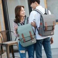 new women men canvas backpack mochilas outdoor large travel bag satchel rucksack laptop school bag for teenage girls