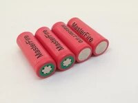 4pcslot masterfire original sanyo 18500 1620mah ur18500f 3 7v lithium ion battery rechargeable batteries cell for flashlights
