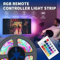 Светодиодная лента, водонепроницаемая цветная LED полоска с подсветкой телевизора, 5 В
