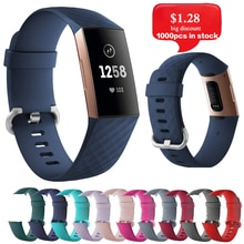 Strap for Fitbit Charge 3 4 Silica Strap Replacement  Wrist Belt Sports Strap for Fitbit Smart Watch