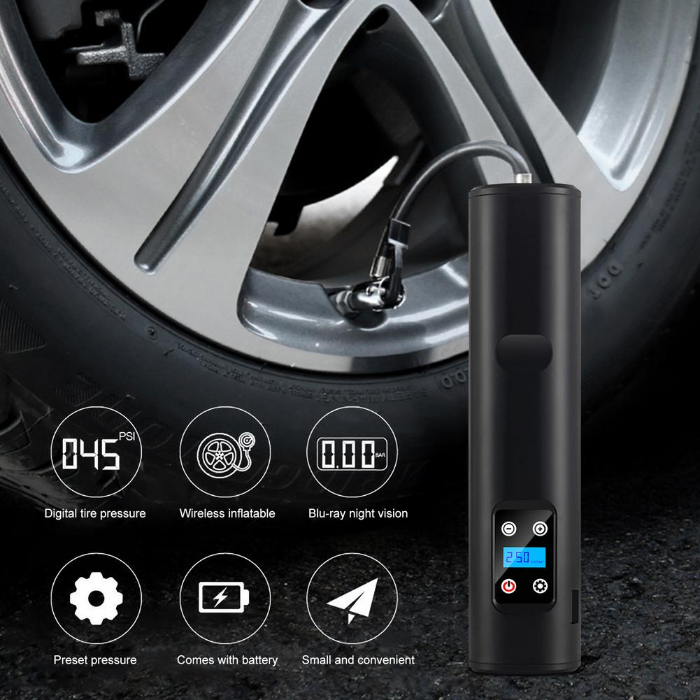 Фото - Portable Electric Wireless Tire Inflator Air Pump Rechargeable Digital 150PSI Auto Car Air Compressor For Car Motorcycle Balls portable car tyre inflator dc 12v digital tire inflator 150 psi auto air pump for car motorcycle led light tire air compressor