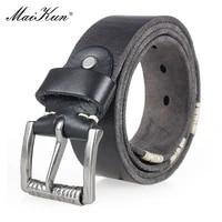 maikun genuine leather belt for men luxury brand top layer cowskin belt washed vintage belt for jeans
