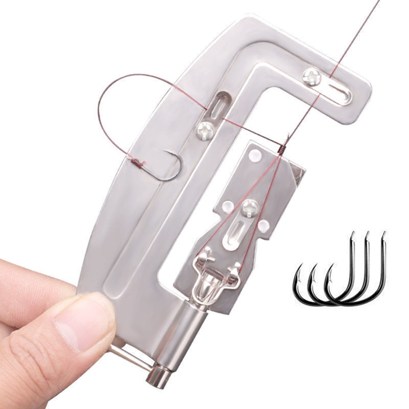 AliExpress - Semi Automatic  Fishhook Line Knotter Tying Machine Portable Stainless Steel Fishing Hooks Line Tier Fishing Accessories