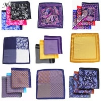 fashion accessories 48 color man hanky pocket square handkerchief paisley design houndstooth printing matching pocket scarf