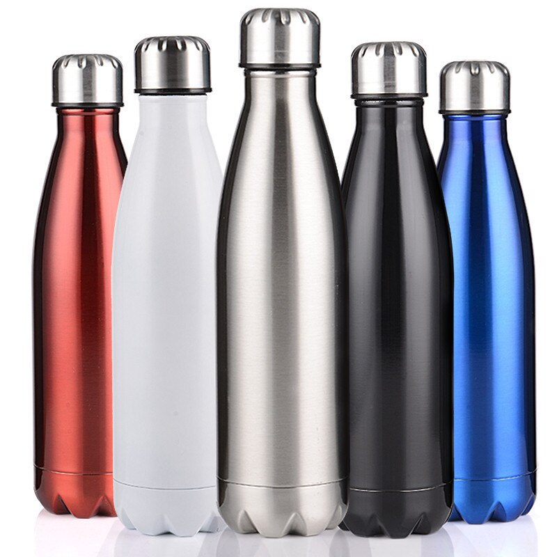 Vacuum Flask Cute Thermos Bottle Stainless Steel Water Bottle for 500ml Sports Cycling Mountain Clim
